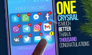 One crystal is much better than a thousand congratulations